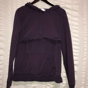 Latched Mama Purple Nursing Hoodie